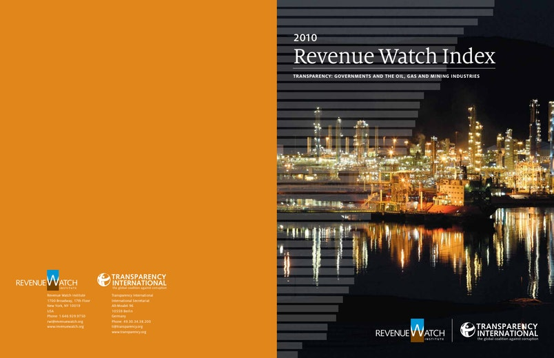 First page of PDF with filename: revenue-watch-index-20101007.pdf