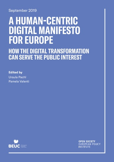 First page of PDF with filename: a-human-centric-digital-manifesto-for-europe-how-the-digital-transformation-can-serve-the-public-interest-20190930.pdf