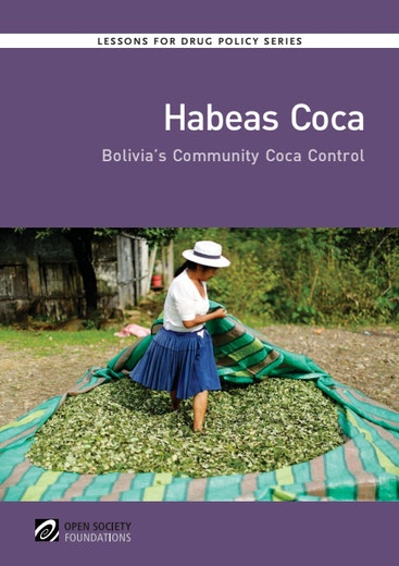 First page of PDF with filename: habeas-coca-bolivias-community-coca-control-20150706.pdf