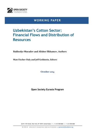 First page of PDF with filename: uzbekistans-cotton-sector-20141021.pdf
