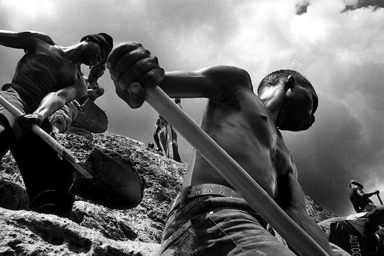Boys digging.