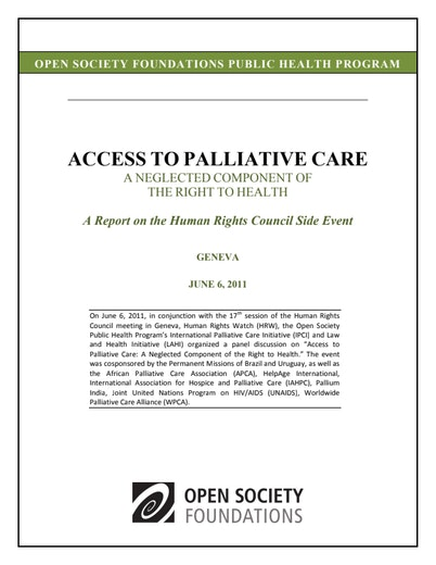 First page of PDF with filename: access-palliative-care-20130311.pdf