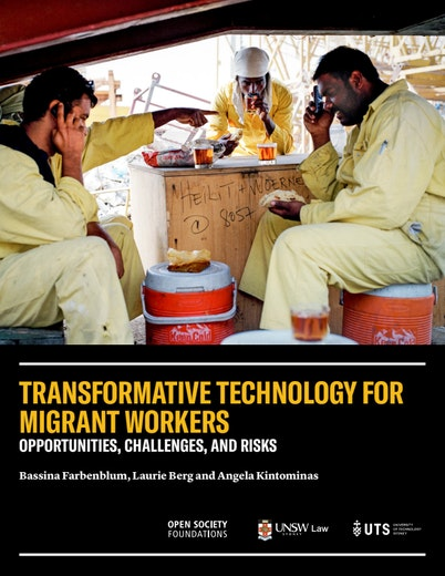First page of PDF with filename: transformative-technology-for-migrant-workers-20181107.pdf