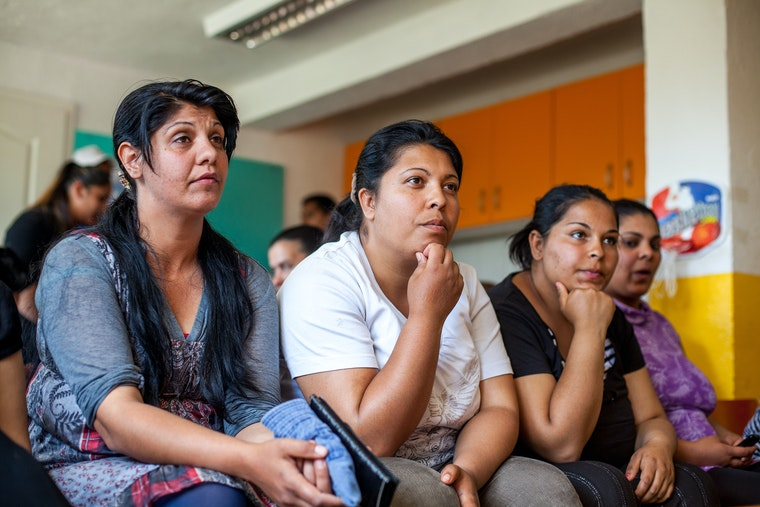 Women sitting in a classroom