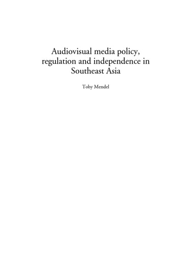 First page of PDF with filename: audiovisual-policy-20100212.pdf