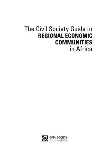 First page of PDF with filename: the-civil-society-guide-to-regional-economic-communities-in-africa-20160202.pdf