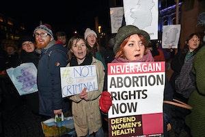 Protesters in Belfast, Ireland