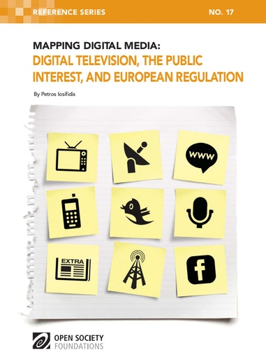 First page of PDF with filename: mapping-digital-media-digital-television-public-interest-and-european-regulation-20120312.pdf