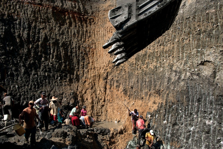Miners in a quarry.