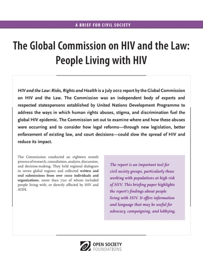 First page of PDF with filename: HIV-and-the-Law-People-Living-With-HIV-20130930.pdf