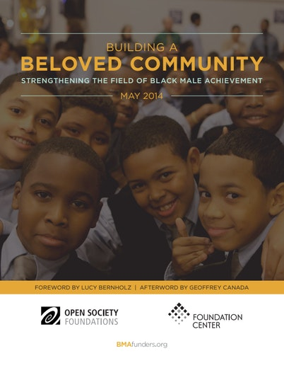 First page of PDF with filename: Building-Community-Black-Male-Achievement-20140512.pdf
