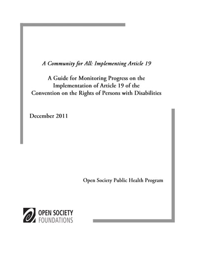 First page of PDF with filename: community-for-all-guide-20111202.pdf