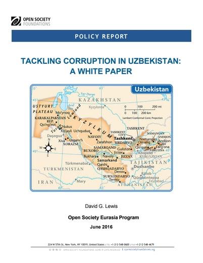 First page of PDF with filename: tackling-corruption-uzbekistan-20160524.pdf