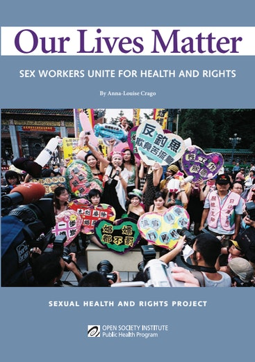 First page of PDF with filename: our-lives-matter-sex-workers-unite-for-health-and-rights-20080801.pdf